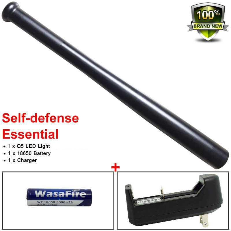 Linterna táctica impermeable 18650 linterna Led de béisbol 3 modos de autodefensa bastón adhesivo linterna para acampar de noche