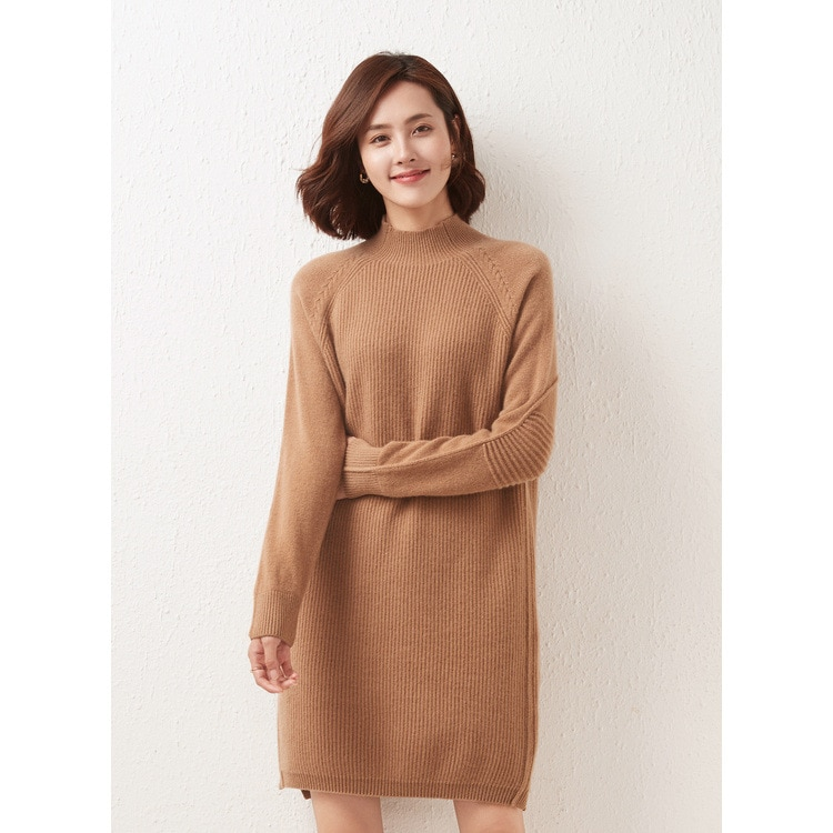 Women's OL Commuter Flat Knit Woven Cashmere Korean Style Women's Woolen Sweater Soft Skin-Friendly Not Easy to Pill enlarge