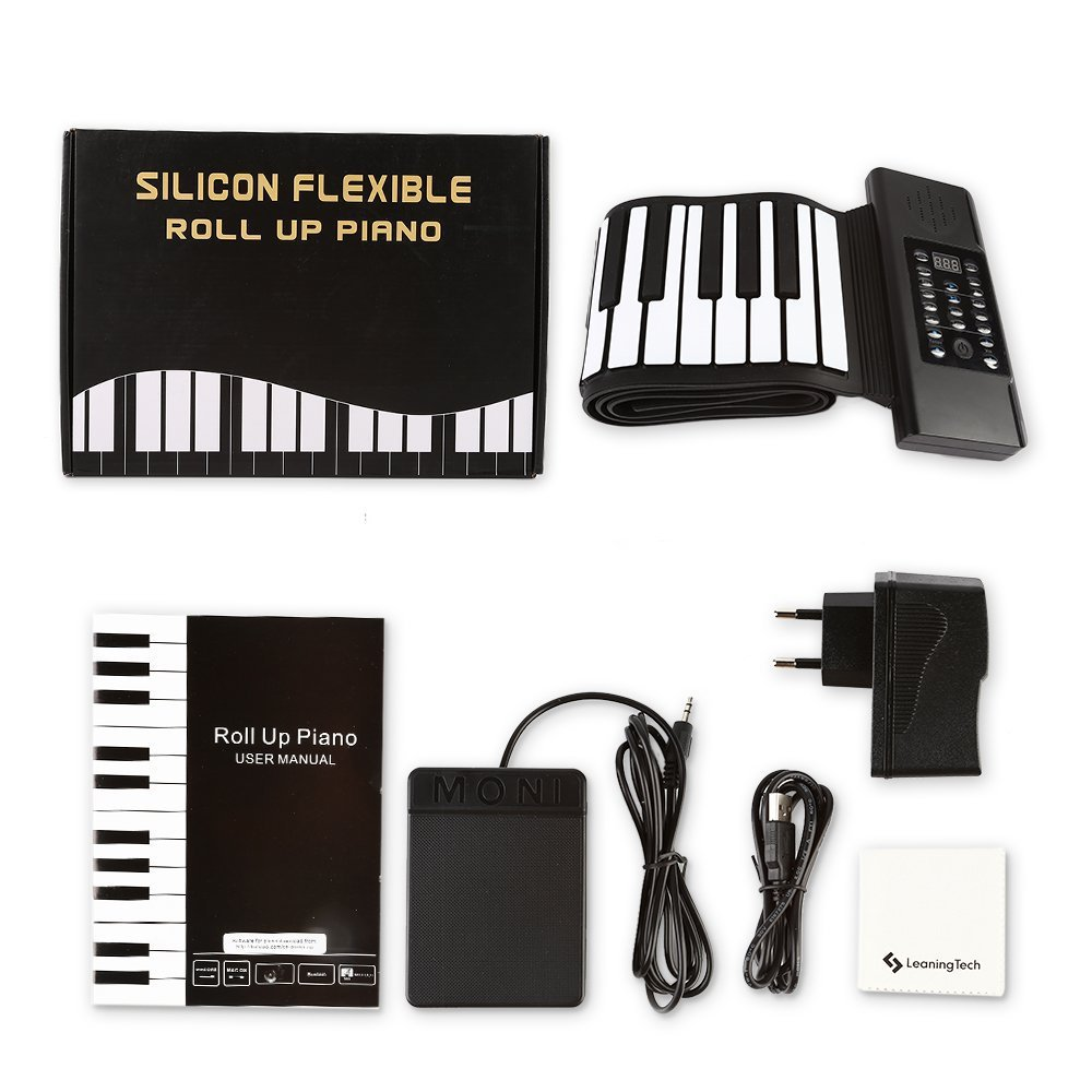 88 Key Midi Keyboard Foldable Silicon Hand-scroll Electronic Keyboard Thick Hand Roll Piano with Chords Version enlarge