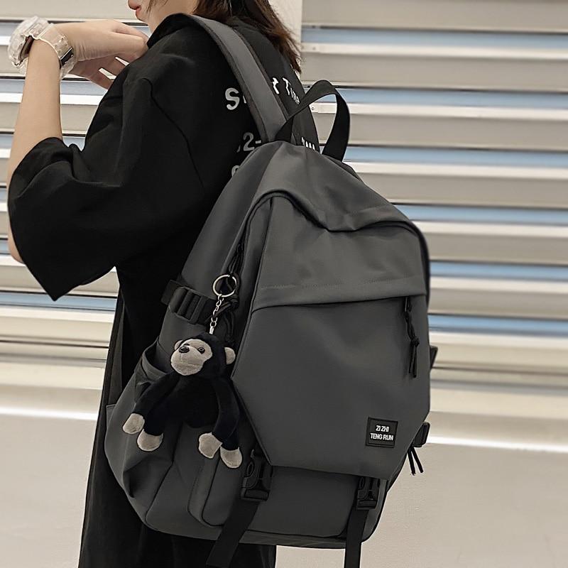 DCIMOR-حقيبة ظهر قماشية أكسفورد مقاومة للماء ذات سعة كبيرة للنساء ، حقيبة سفر متعددة الجيوب للجنسين ، حقيبة مدرسية لكبار الطلاب