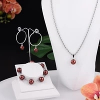 fastness silversets jewelry hawaiian fashion colorful pearl polynesian nacklace hoop trendy earrings bracelet for women girls