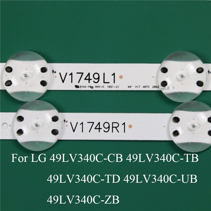 قطعة غيار لإضاءة تلفزيون LED ، شريط إضاءة LED لـ LG 49LV340C-ZB 49LV340C-UB CB TB TD ، شريط إضاءة خلفية LED ، مسطرة خط V1749L1 2862A