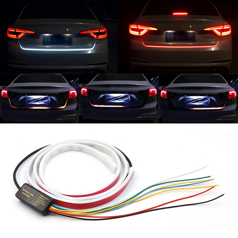 120cm/150cm Dynamic Streamer Floating Additional Stop Light LED Car Tail Trunk Tailgate Strip Turn Signal Lamp