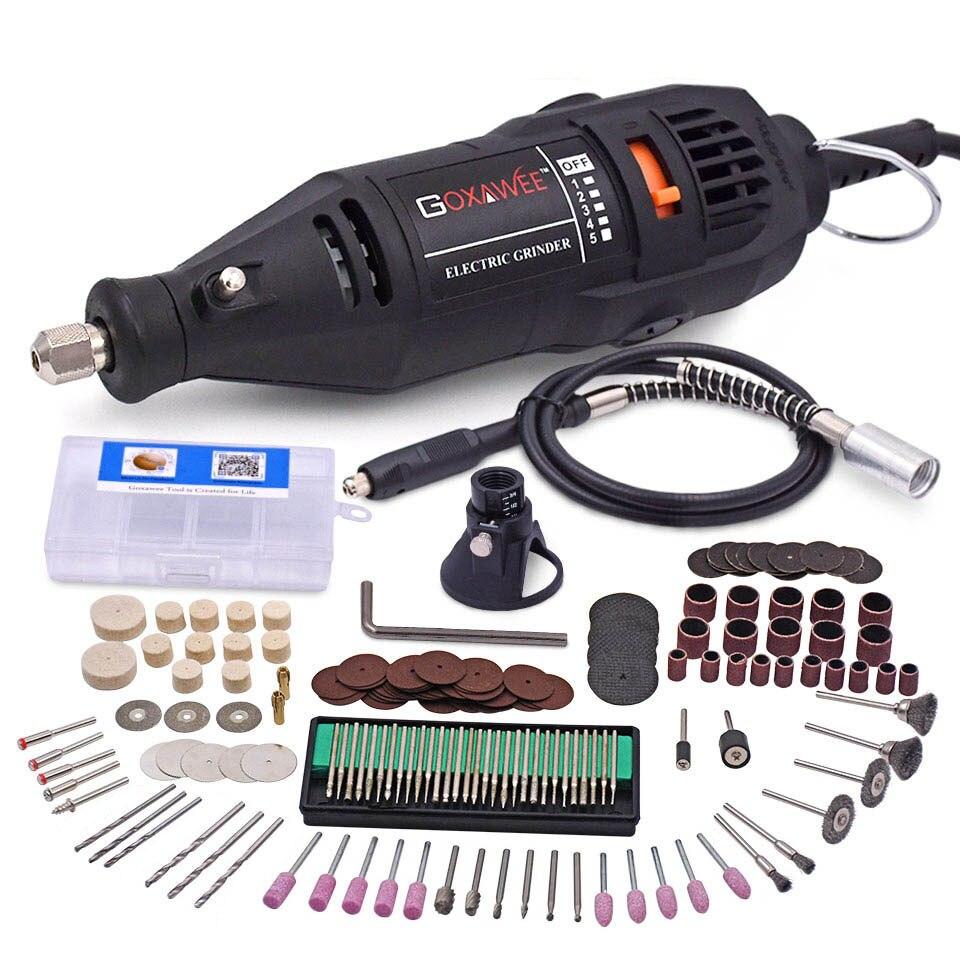 110 فولت 220 فولت أدوات طاقة كهربائية مثقاب صغير مطحنة القالب حفارة الملمع مع طقم أدوات دوارة عدة ل Dremel 3000 4000