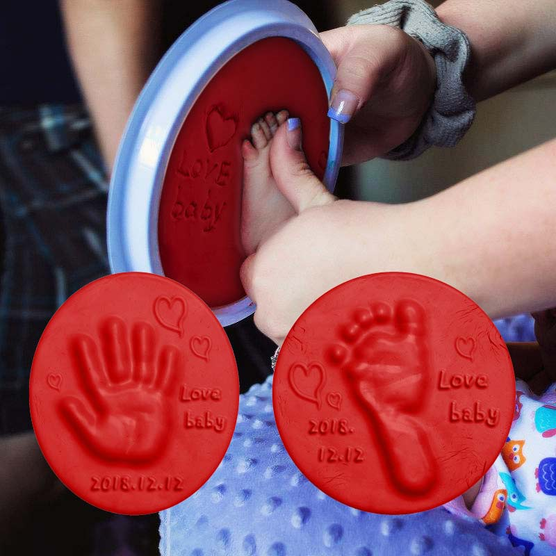 truecolor children ultra light clay 24 32color non toxic rubber crystal color clay space snow clay sand set Soft Clay DIY Newborn Baby Souvenirs Hand Print Footprint Non-toxic Clay Kit Casting Parent-child Hand Ink Pad Fingerprint Toys