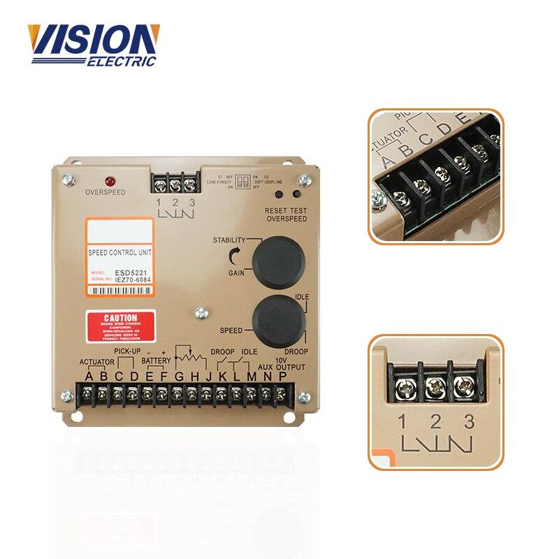 Módulo eletrônico esd 5221 do regulador da unidade de controle esd5221 da velocidade do controlador gerador para o motor diesel