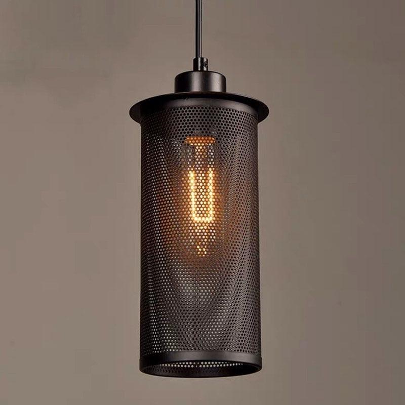 الرجعية الصناعية قلادة ضوء شبكة معدنية شخصية الإبداعية رئيس واحد شرفة آرت ديكو مطعم بار مقهى loft مصباح
