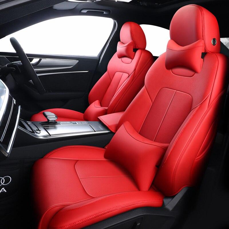 Rojo cubiertas de asiento de coche para bmw e39 f10 e60 f30...