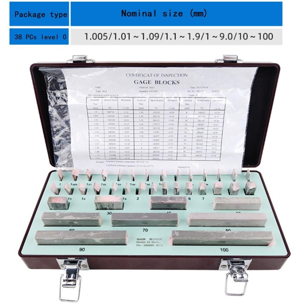 1.005-30mm Block Gauge 32pc Level1 Caliper Block Precision Gauge Calibration Block Level0 Carpenter Woodworking Measuring Tools
