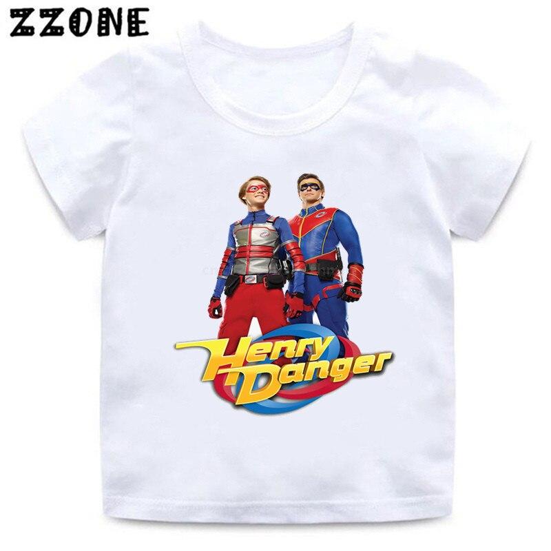 Henry Danger-camisetas de dibujos animados para niños y bebés, divertidas camisetas informales...