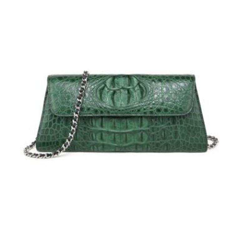 Hongzhiyan جديد نموذج هو محض جلد التمساح النساء حقيبة صغيرة مربع حقيبة جلد التمساح واحد الكتف حقيبة عبر حقيبة