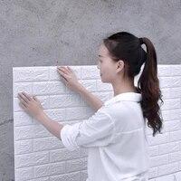 30x35cm 3d wall stickers foam self adhesive wallpaper bedroom background wall soft pack foam wallpaper decorative stickers
