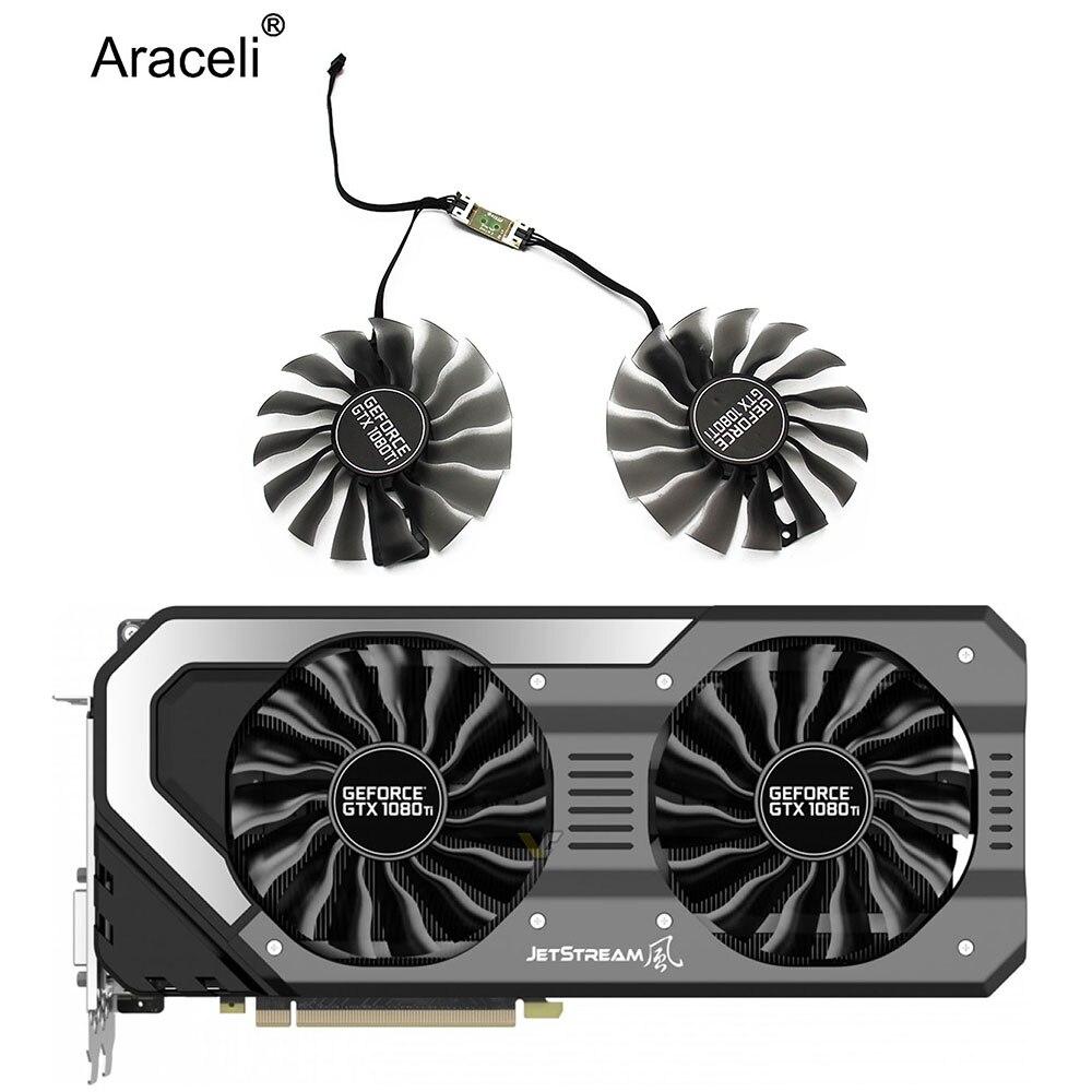Ventilador de 95MM FD10015H12S GAA8S2U, ventilador GTX 1080Ti GTX1080 Ti GPUCard para Palit EMTek GTX1080Ti Jetstream, ventilador de refrigeración de tarjeta VGA