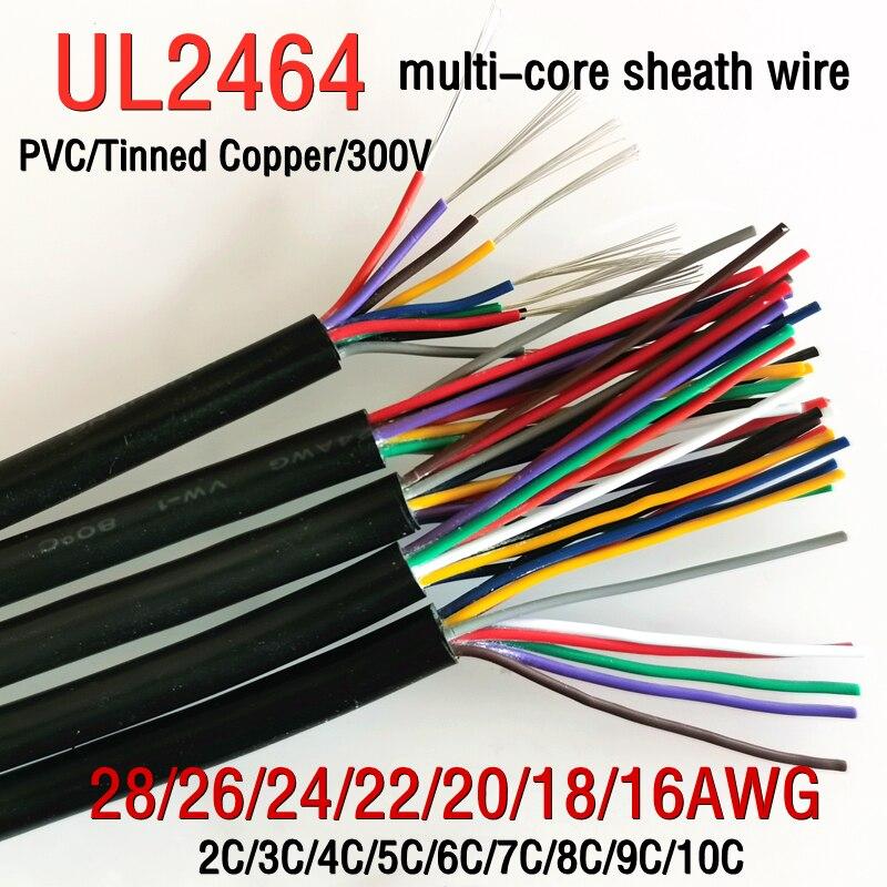 2/5/10 m UL2464 en conserva de cobre recubierto de alambre de 28...