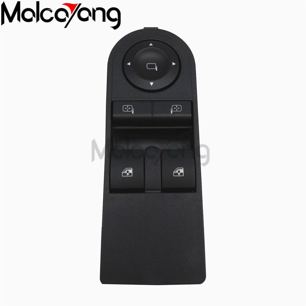 Botón de Control de ventanilla principal, interruptor de encendido para Vauxhall Astravan Zafira Opel Astra H Zafira 2004-2015 13215152, 13228879, 6240381