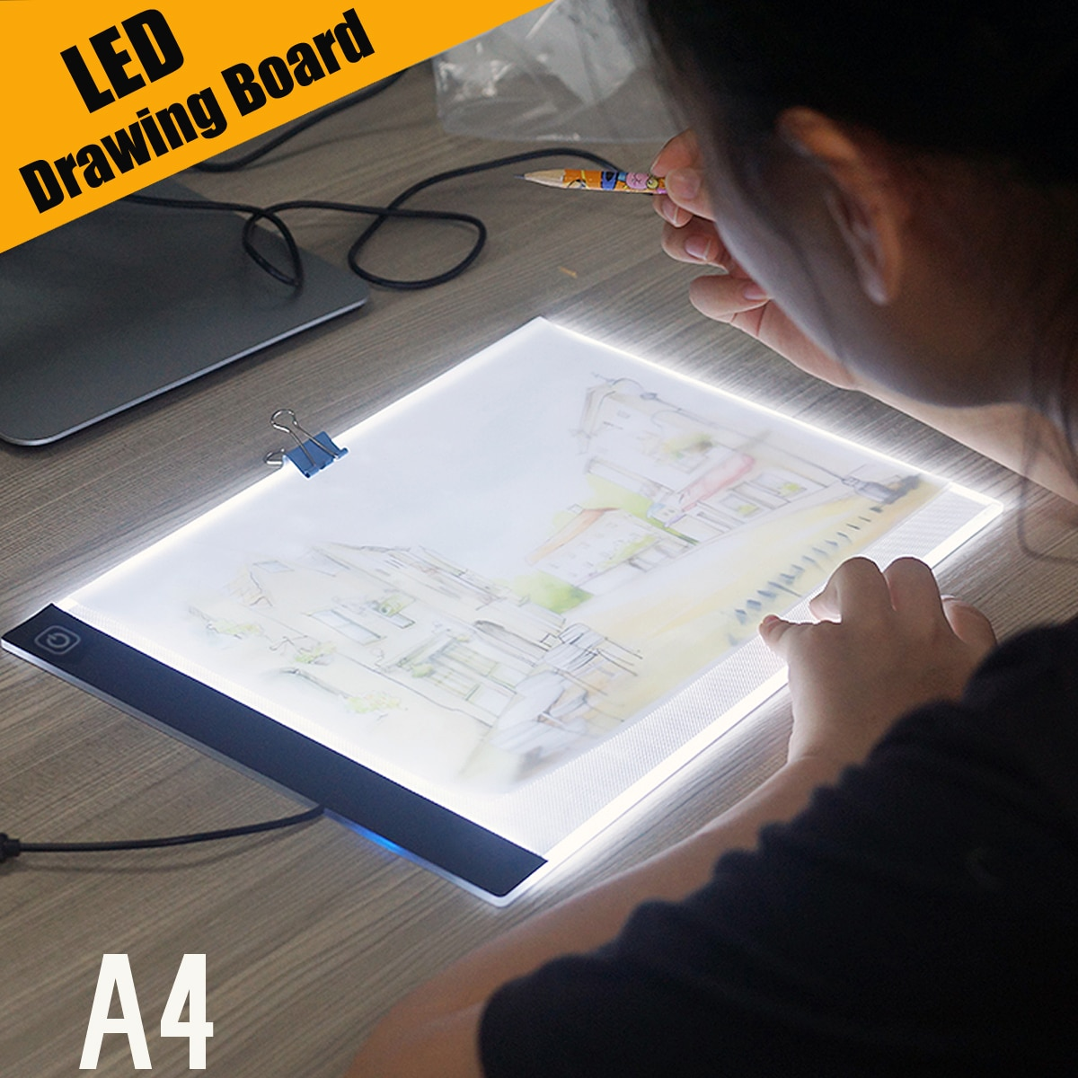 Ultra Thin A4 LED Light Pad Artist Light Box Table Tracing Drawing Board Pad Diamond Painting Embroidery Tools