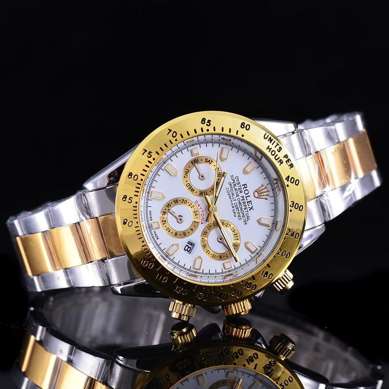 A0008 New Hot high quality Rolex- Luxury brand Men Women Quartz Watch Fashion Gift Gold Casual Mens