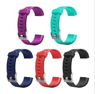 Venda quente pulseira de relógio inteligente para id115 plus hr macio esporte silicone banda pulseira de relógio de substituição para id115 mais pulseira inteligente