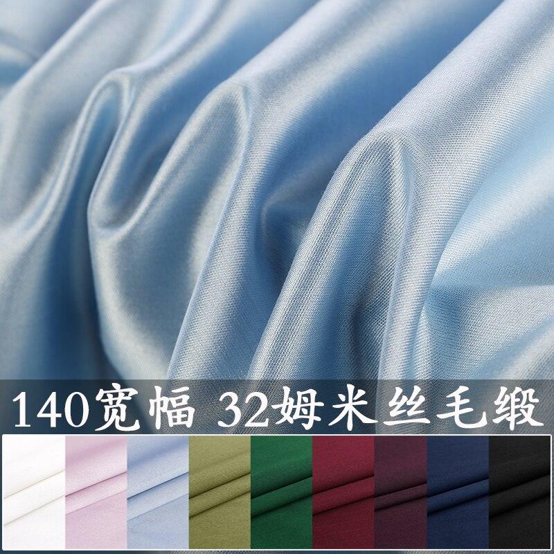 35% SEDA DE MORA 65% lana 140 ancho 32 momme tela de seda satinada
