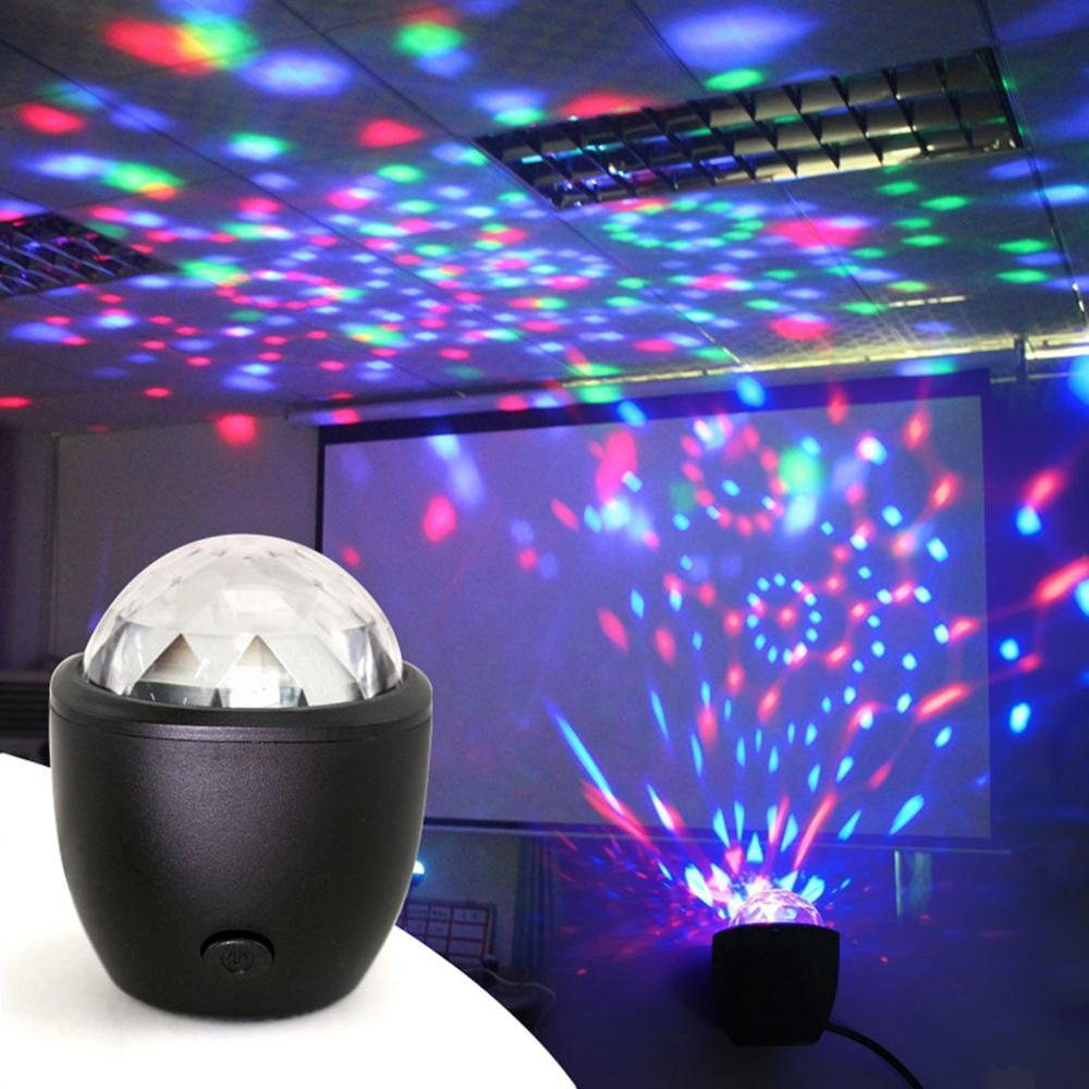 mini stage light 3w usb powered sound actived multicolor disco ball magic effect lamp for birthday party concert d Mini RGB Stage Lights USB Powered Magic Ball Sound Control Multicolor Disco Ball Magic Lights Flash DJ Lights For Home KTV Bar