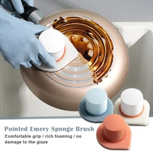 Émeri éponge brosse ménage nettoyage pour cuisine vaisselle Pot épurateur salle de bain carrelage douche baignoire brosse à récurer XH8Z