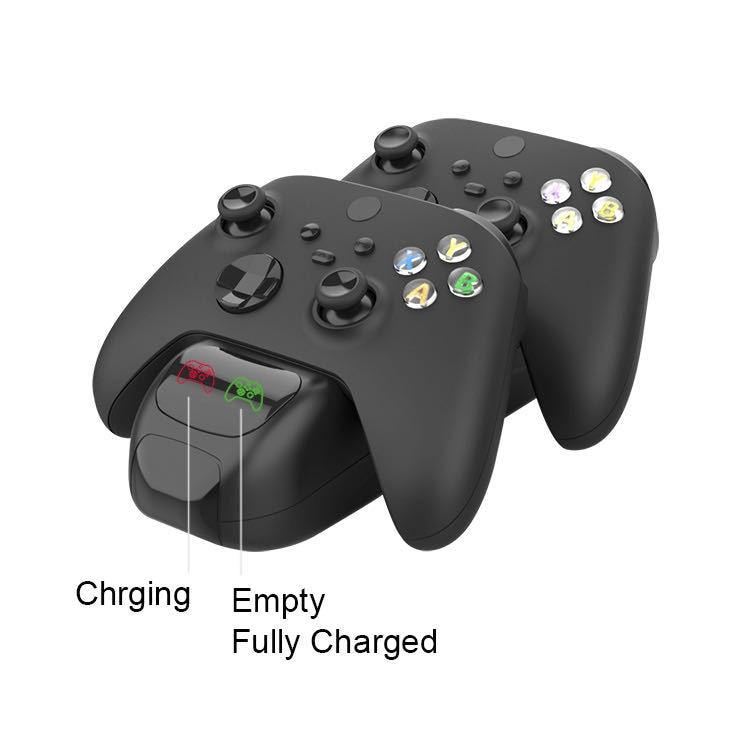 ل Xbox سلسلة X / S وحدة تحكم لاسلكية مقبض غمبد المزدوج شحن Xbox S X اللاسلكية مقبض قاعدة شحن مقبض شاحن