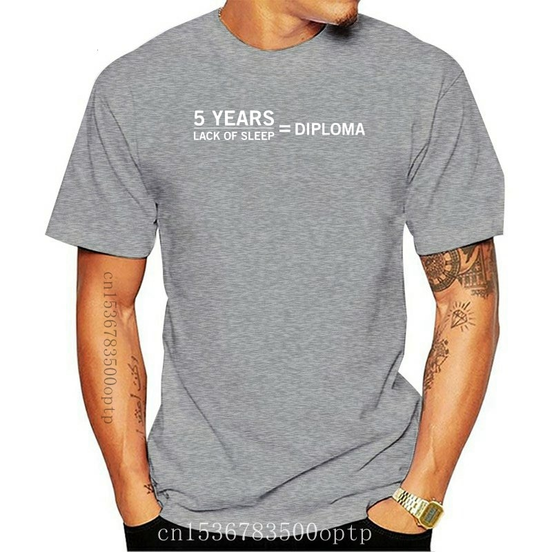 New High Quality T-Shirt Funny Graduate T-Shirt, 5 years lack of sleep is diploma, degree gift for Unisex Short Sleeve Tee shirt
