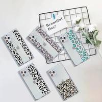 leopard print colorful phone case for iphone 7 8 11 12 x xs xr mini pro max plus clear square transparent