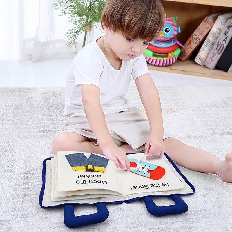 Montessori Toys for Kids 1 Year Old Baby Books Learning Education 3D Quiet Fabric Activity Story Book for Toddlers 2 Years Gifts