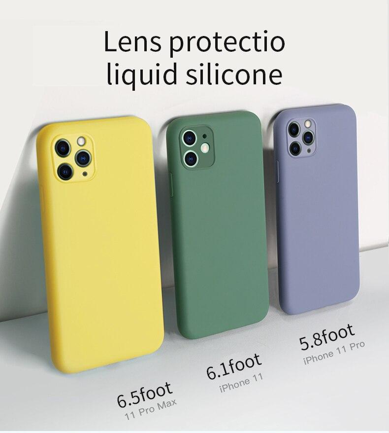 Multi-color Zachte Siliconen Telefoon Geval Voor Apple Iphone 11 Case 11 Pro Max X Xs Max Xr 7 8 Case Voor Iphone 11 Pro Max Se 2020 Xr X