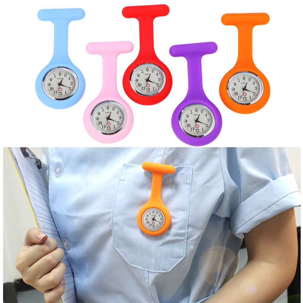 Nurse Robes Silicone Brooch Quartz Watch with Free Battery Doctor Medical часы женские 50%