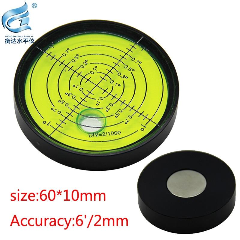 Фото - Magnetic level bubble level aluminum alloy level high precision level 60*10mm 6'/2mm darkest hour level 6