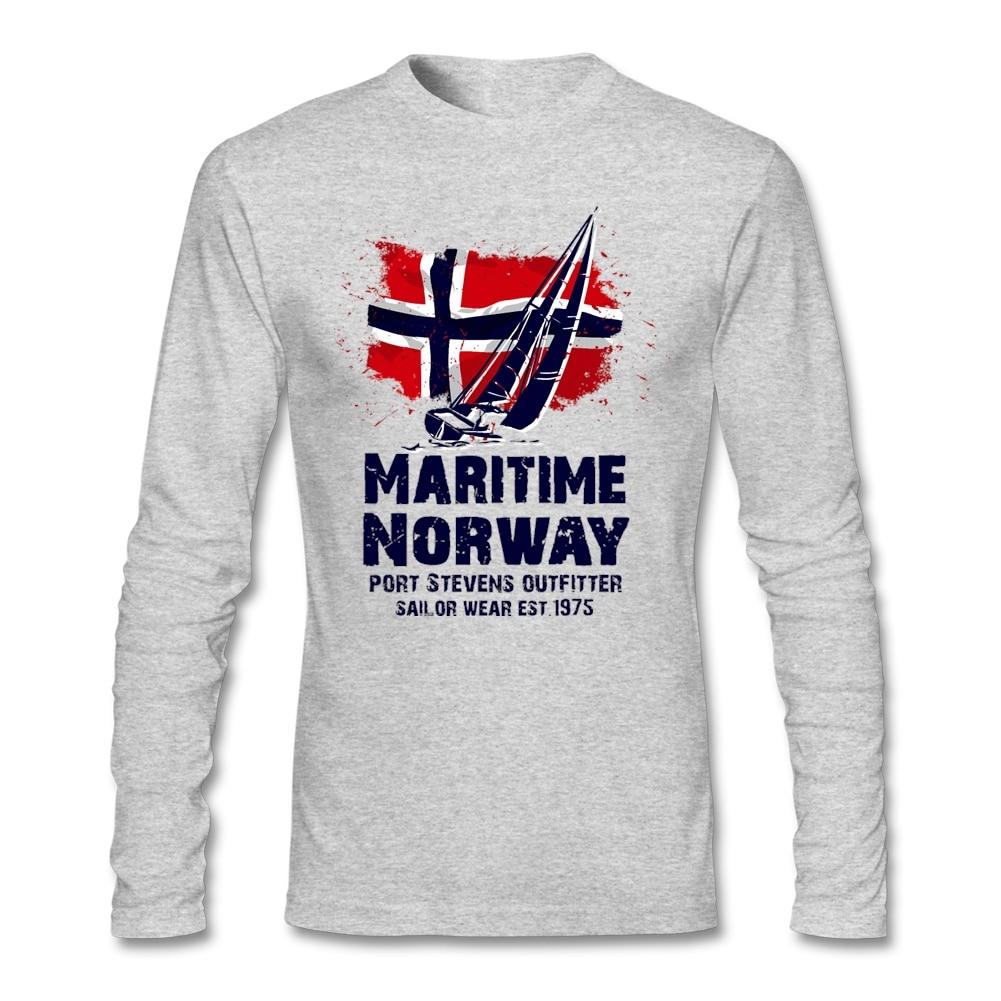 Cheap Fashion Designer Viking Maritime Sailings Boat Norway Flag Shirt for Men 3D Print Long Sleeve Crewn T Shirts For Man