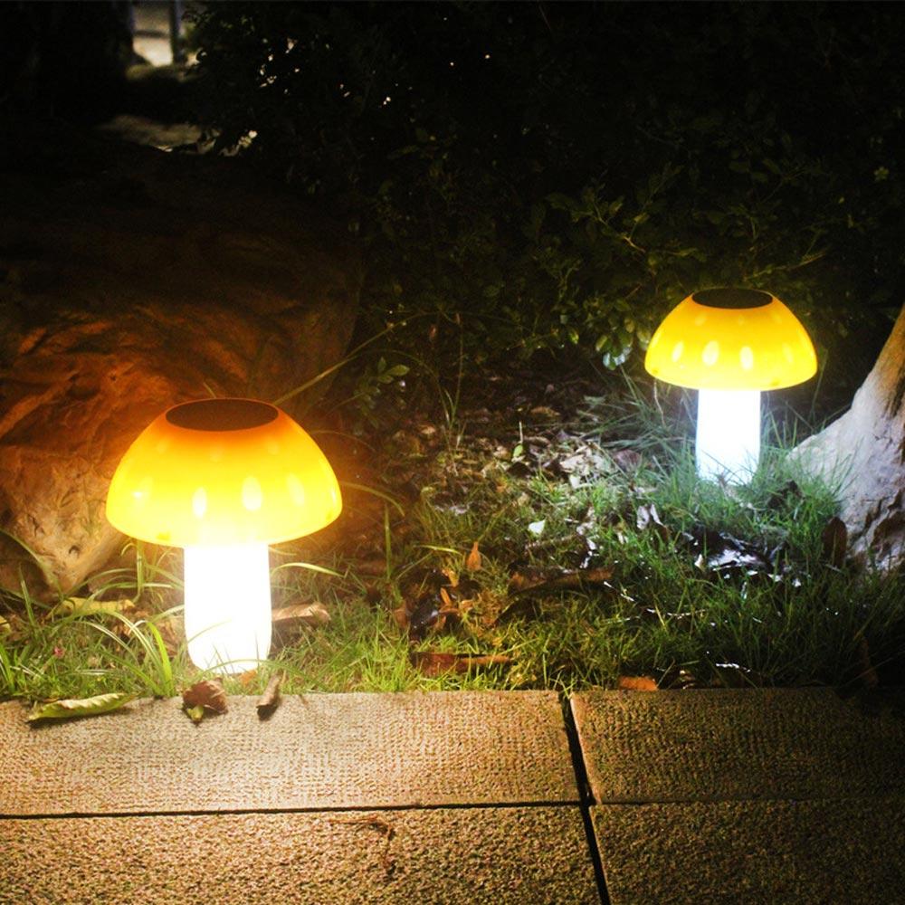 Brelong 20leds cogumelo luz solar ao ar livre à prova dwaterproof água jardim gramado luz