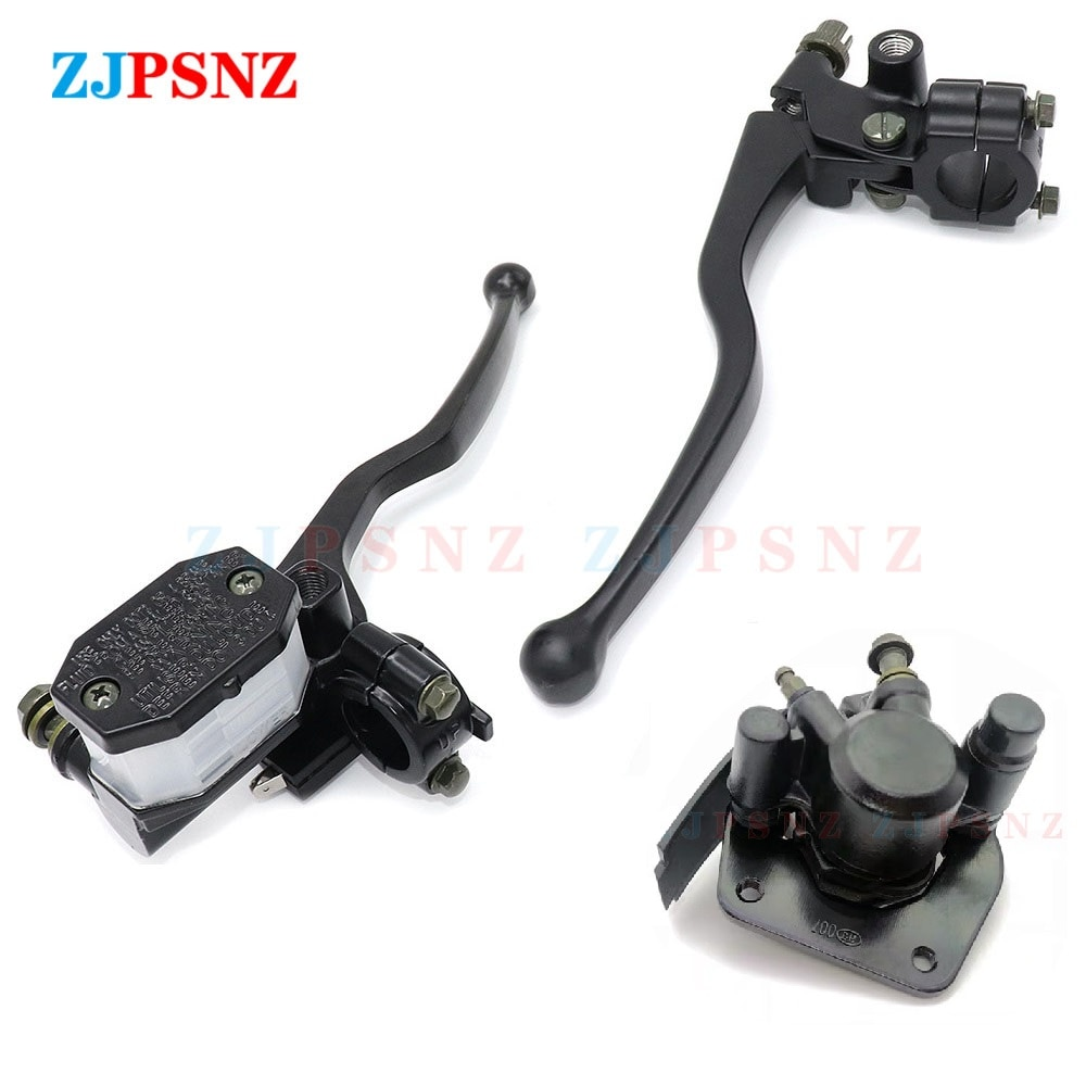 Motorcycle Brake Pump Assembly GN125 GS125 GS125 HJ125 Front Right Brake Clutch Levers Master Cylinder Rear Disc Brake System