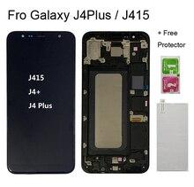 Pour Samsung Galaxy J4 + J415 SM-J415F J415FN LCD avec cadre écran tactile assemblée pour Samsung J4 plus J415 écran lcd