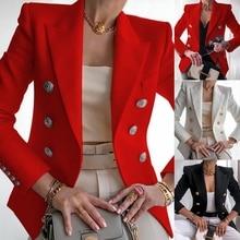 Blazer Women Office Jacket Double Breasted Harajuku Blazer Slim Fitting Female Blazer 2020 Coat Offi