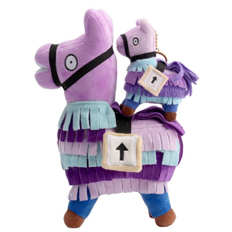 Juguete de felpa de 10-20cm Fortnite, juguete de peluche Troll Stash Llama suave Alpaca Arco Iris, juguete de peluche, regalo de cumpleaños para niños