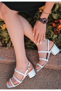 The First Grade white Faux Leather Heels Sandals Shoes COM-KDN-KTP-225693