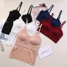 Women Bra Sexy Lace Lingerie Seamless Wireless Bra Push Up Floral Brassiere Padded Plus Size Bralette underwear Y-LINE wx03
