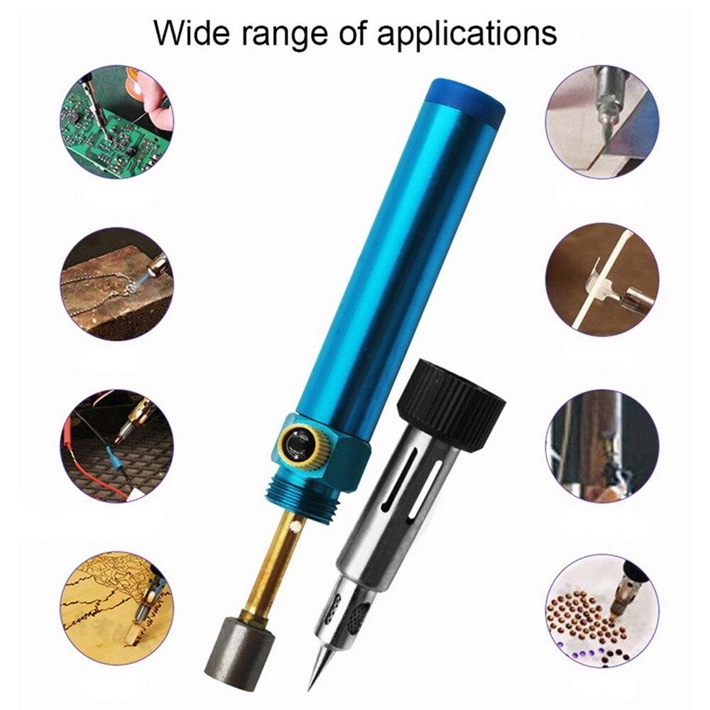 Портативный бутановый Газовый паяльник, беспроводная сварочная ручка, бутановый паяльник, Газовый паяльник, ручные инструменты, сварочное ...