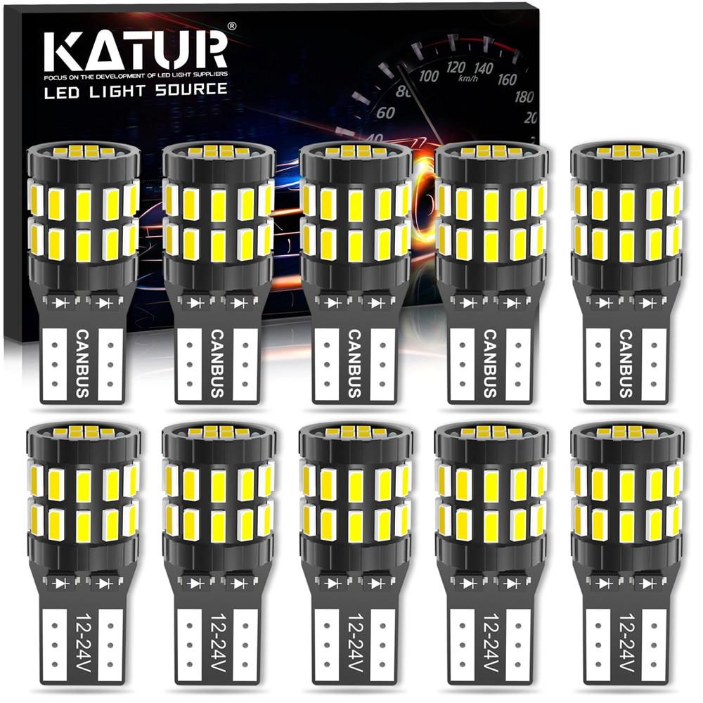 10x T10 Canbus LED W5W Garde le Feu de position pour Volkswagen VW Passat b6 b8 b5 b7 Golf 4 6 mk7 mk6 mk3 t5 t6 Voiture ampoule led 12v