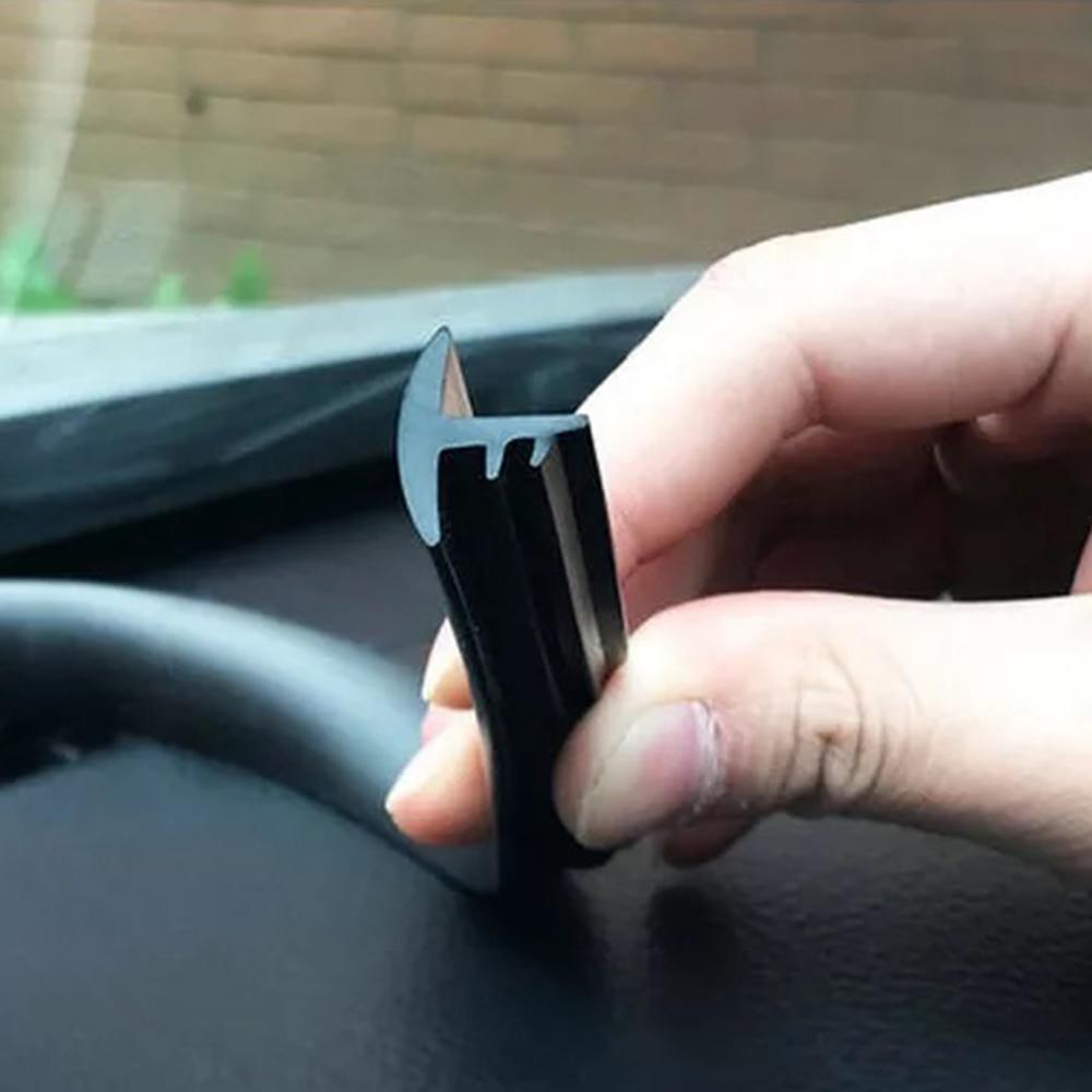 Auto universal 1,6 M tipo T tablero de goma sello de aislamiento acústico embellecedor de borde tipo tira para cualquier condición climática aislamiento de ruido tira de sellado