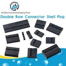 20 pièces 2.54mm Dupont connecteur 2.54mm simple/Double rangée bouchon en plastique 1P 2P 3P 4P 5P 6P 7P 8P 9P 10P 12P 14P 16P 18P 20P