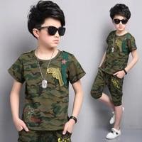 boys clothing sets children clothing camouflage kids clothes suits for boys clothes summer kids sport tracksuit 4 6 8 10 12 year
