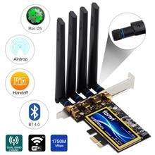 Fenvi T919 pour Mac OS PC PCI WiFi carte continuité transfert BCM94360CD aéroport natif WiFi BT 4.0 1750Mbps 5 GHz/2.4 GHz WLAN PCI-E