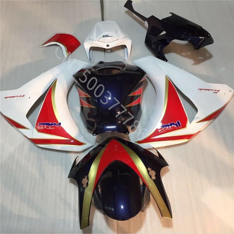 الأبيض الأحمر الأزرق الأسود حقن لهوندا CBR1000RR 08 09 10 11 CBR1000 08-11 CBR 1000 2008-2011 CBR1000 2008 2011 الهدايا المجمعة