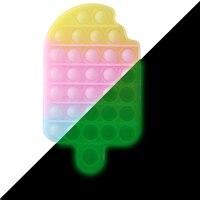 Светящиеся флуоресцентные игрушки-антистресс с пузырьками, Игрушка антистресс, сенсорная игрушка, светящаяся ночью силиконовая игрушка-ан...