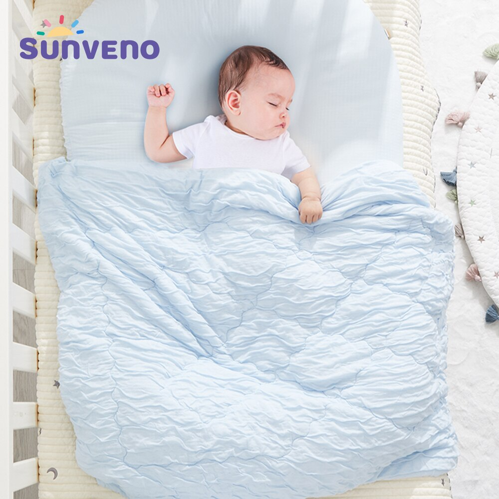 Sunveno Baby Blankets Newborn Muslin Quilts Receiving Blankets Bedding Sets Super Soft like Baby Skin Natural Cool modern baby quilts