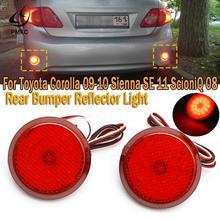 PMFC 1pair Stop Lamp Car LED Tail Rear Bumper Reflector Light Fog Brake For Toyota Corolla 2009-2010 Sienna SE 2011 ScioniQ 2008